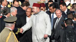 Le roi Mohammed VI en Tunisie en mai dernier.
