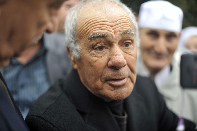 ياسف سعدي القائد العسكري السابق لجبهة التحرير الوطني في العاصمة الجزائر بتاريخ 13 نيسان/ابريل 2012