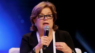 Registro de la saliente ministra de Justicia y del Derecho de Colombia, Gloria María Borrero, quien anunció su renuncia el 16 de mayo de 2019.