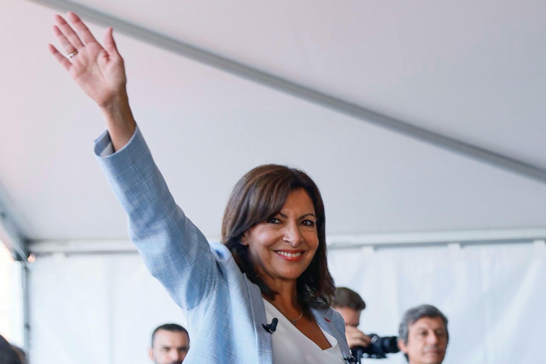 La maire de Paris Anne Hidalgo après avoir annoncé sa candidature à la présidentielle, le 12 septembre 2021 à Rouen
