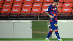 Messi's Barca saw their title defence end with a tame defeat