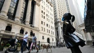 Le New York Stock Exchange à New York, le 15 mai 2020