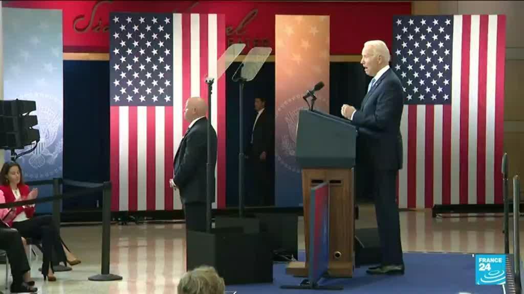 """2021-07-14 07:09 Droit de vote des minorités aux USA : Biden accuse les Républicains """"d'attaquer la démocratie"""""""