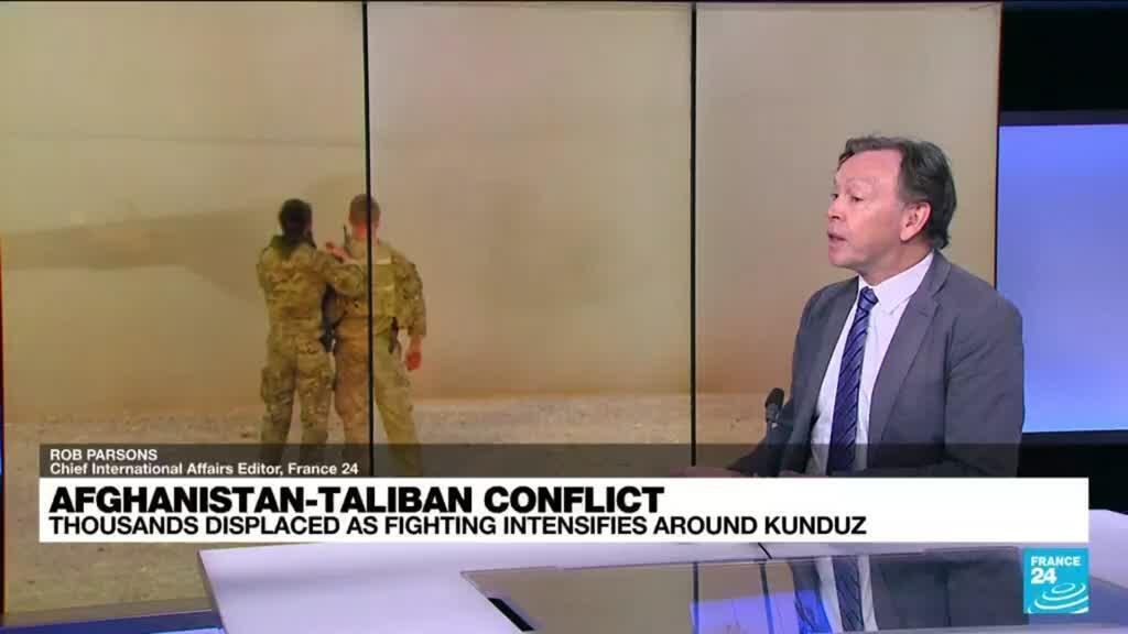 2021-06-27 17:01 Afghanistan violence: Thousands displaced as fighting intensifies around Kunduz