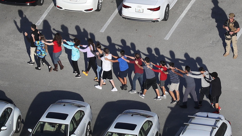 La fusillade du lycée de Parkland, en Floride, a fait 17 morts le 14 février 2018.