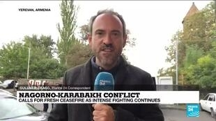 2020-10-06 10:06 Nagorno-Karabakh conflict: Death toll rises as Azeris, Armenians say civilian areas are under fire