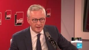 """2020-06-18 09:18 Transport aérien : """"Il n'y aura pas de retour à la normale immédiat"""", selon Bruno Le Maire"""