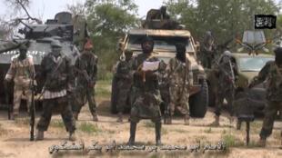 Dans cette vidéo diffusée par Boko Haram le 13 juillet, le chef du groupe, Abubakar Shekau, prête allégeance à l'EIIL.