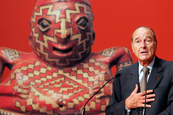 Le président Jacques Chirac inaugure le musée du Quai Branly, le 20 juin 2006.
