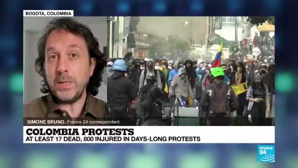 2021-05-03 18:08 At least 17 dead, 800 injured in days-long Colombia protests
