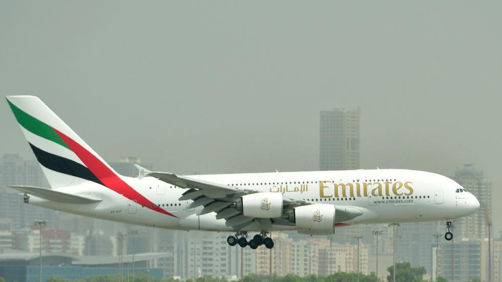 طائرة إيرباص طراز 380 تابعة لطيران الإمارات