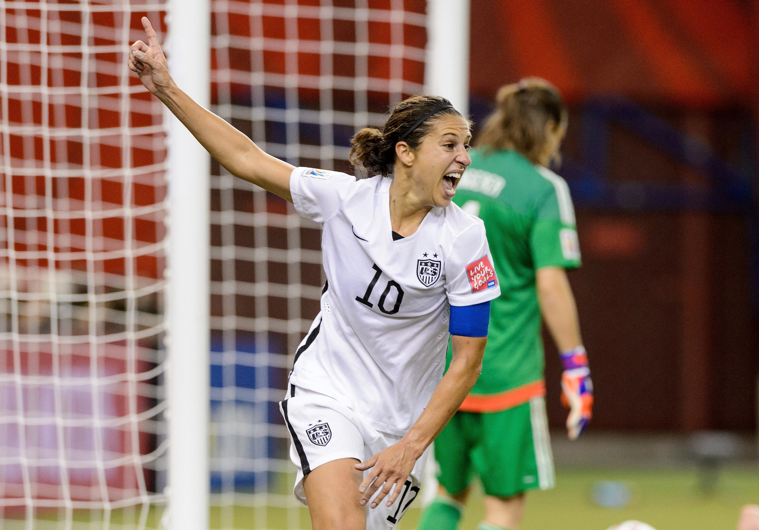 Carli Lloyd of the US in the FIFA Women's World Cup 2015 semi final at Olympic Stadium on June 30, 2015 in Montreal, Canada.