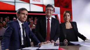 Jean-Luc Mélenchon sur le plateau de l'Émission politique de France 2, le 23 février 2017.