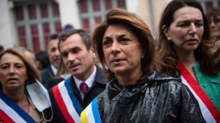 Martine Vassal candidate LR à la mairie de Marseille, lors d'un rassemblement à Marseille le 12 juin 2020