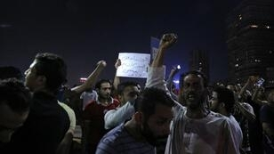 متظاهرون ضد الرئيس عبد الفتاح السيسي في القاهرة - 20 سبتمبر/أيلول 2019.