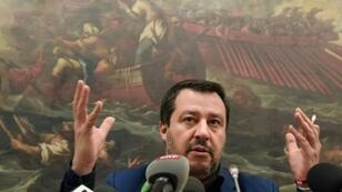 """Italy's Matteo Salvini said free elections should take place in Venezuela """"as soon as possible"""""""
