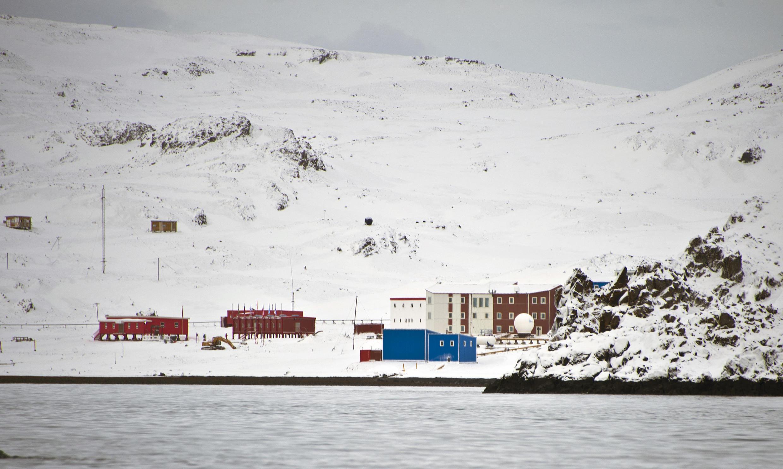 Une base scientifique chinoise, en Antarctique, en mars 2014.