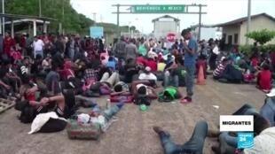 Migrantes desafío caravana centroamericana