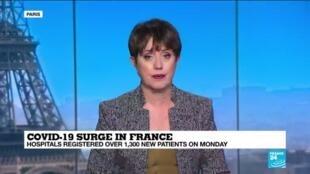 2020-10-27 13:08 Across France, hospitals close to coronavirus capacity