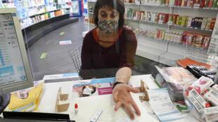 Test sérologique pratiqué à Strasbourg dans une pharmacie, le 15 juillet 2020