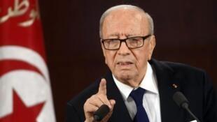 الرئيس التونسي باجي قايد السبسي