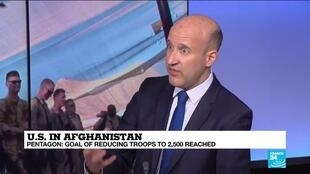 2021-01-15 17:10 Pentagon says US has dropped to 2,500 troops in Afghanistan