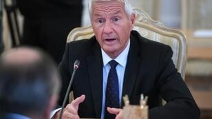 Secretary General of the Council of Europe Thorbjorn Jagland, pictured in 2017, said the alliance is in the process of agreeing a new legal framework to prevent the use of artificial intelligence to spread fake news and false information