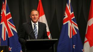 Le Premier ministre néo-zélandais John Key a lancé il y un an une consultation pour proposer un nouveau drapeau.