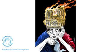 La France pleure sur le sort de la cathédrale Notre-Dame de Paris, ravagée par un incendie lundi15avril.