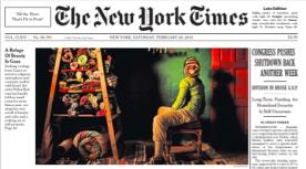 L'exposition de Nidaa Badwan a fait la une du célèbre quotidien américain, The New York Times.