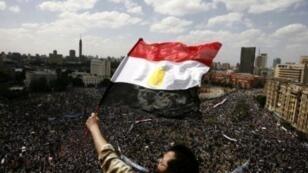Une manifestation au Caire, sur l'emblématique place Tahrir