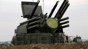 نظام الدفاع الجوي الروسي في سوريا طراز Pantsir-S1، في 16 كانون الأول/ديسمبر 2015.