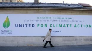 La conférence de Paris sur le climat (COP21) s'ouvrira en décembre 2015.