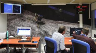 Image de synthèse de Rosetta à l'approche de la comète