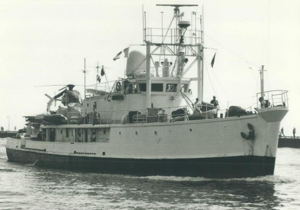 La Calypso en 1973.