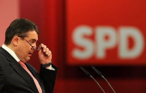 Sigmar Gabriel, le patron du SPD.