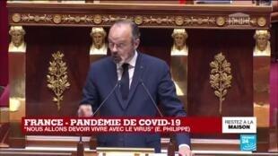 """2020-04-28 15:16 Coronavirus - Philippe devant l'Assemblée : """"La France a dû gérer un risque de pénurie de masques"""""""