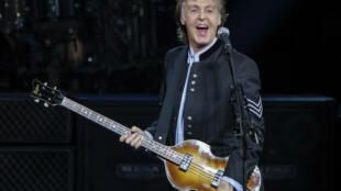 Paul McCartney en concert le 26 juillet 2017 à Tinley Park, Illinois.
