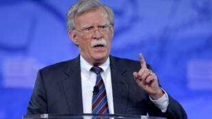Le nouveau conseiller à la sécurité nationale de la Maison Blanche, John Bolton, intervient lors d'une conférence à National Harbor, dans le Maryland, le 24 février 2017