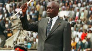 Le président kényan Daniel Arap Moi, à Nairobi, le 12 décembre 1997.