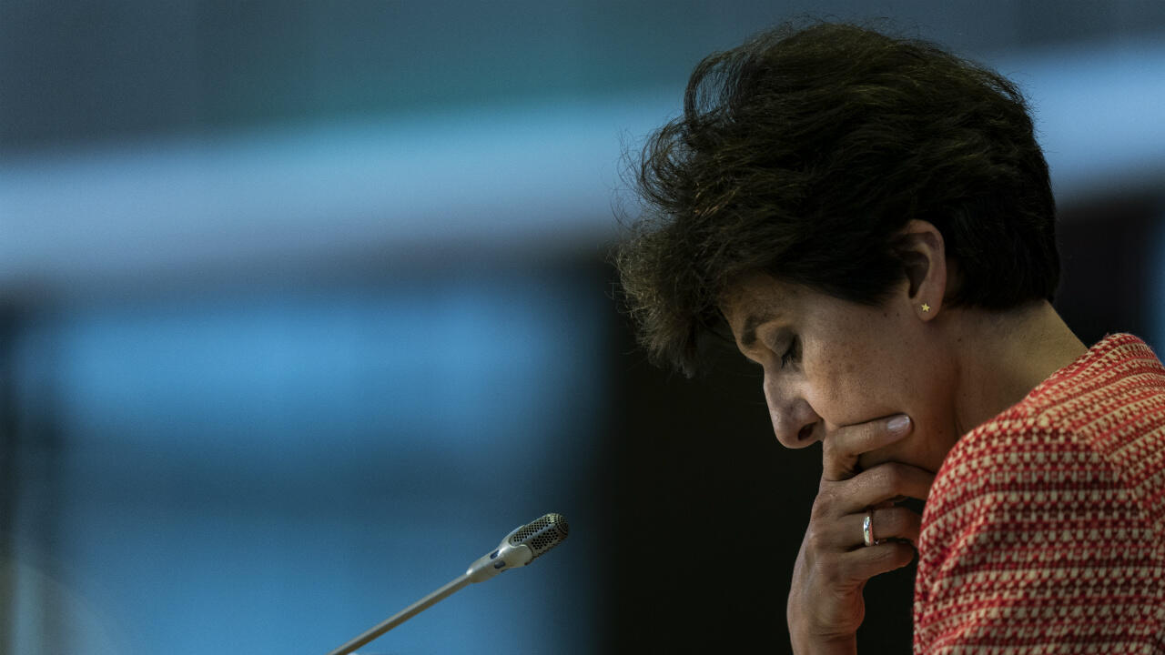 Sylvie Goulard answers questions during her hearing at the European Parliament in Brussels on October 2, 2019.