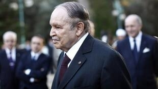 Abdelaziz Bouteflika lors de sa cérémonie d'investiture, le 28 avril 2014.