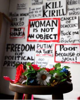 Femen milite pour les droits des femmes dans le monde, contre l'asservissement sexuel, la violence conjugale ou encore l'oppression religieuse. © Sarah Leduc