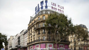 Façade de l'enseigne Tati, boulevard Barbès, à Paris, le 18 septembre 2012.