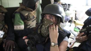 AFP / Fred Dufour   Camille Lepage à Bangui, le 19 février 2014