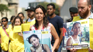 Une manifestation anti-Maduro a eu lieu jeudi 12 avril 2018 devant l'ambassade vénézuelienne, à Lima.