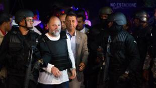 L'expert en sécurité Christophe Naudin, lors de son arrivée en République dominicaine après son extradition depuis l'Égypte, le 4 mars 2016.