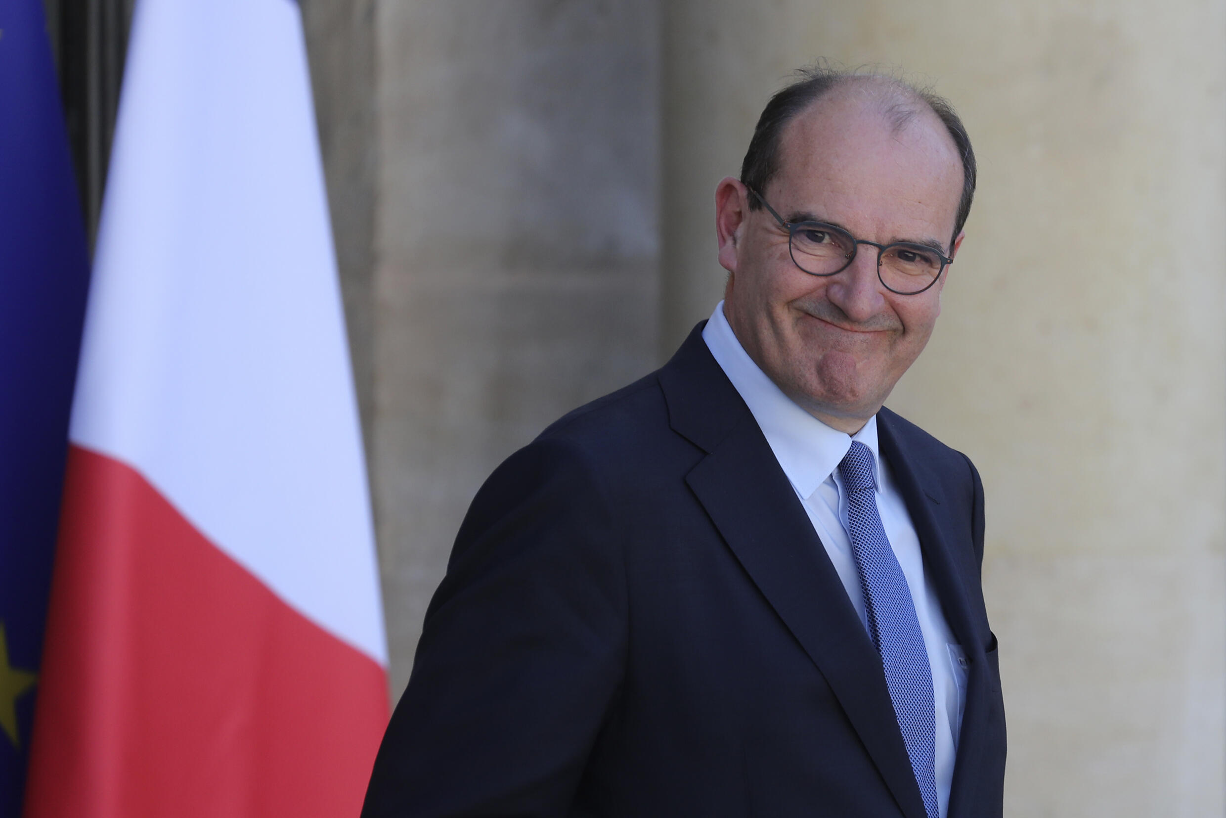 Jean Castex at the Élysée presidential palace on July 7, 2020