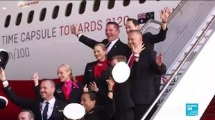 2019-11-15 14:49 Australia's Qantas operates longest flight ever