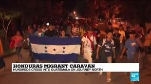 2020-01-16 11:12 Hundreds of migrants from Honduras have crossed into Guatemala